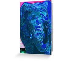 Blue Elephant Greeting Card