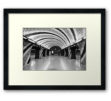 World Spiral—a Riffled Metro Station Framed Print