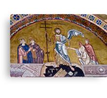 Resurrection of Jesus, 11th century mosaic, Greece Canvas Print