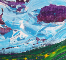 Irish Landscape Abstract with Purple Clouds Sticker