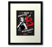 BUFFY: NIGHTMARES Framed Print