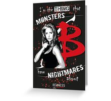 BUFFY: NIGHTMARES Greeting Card