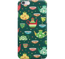 Tea pattern iPhone Case/Skin