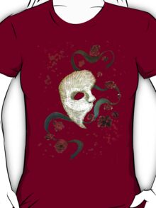 Phantom of the Opera Mask and Roses T-Shirt