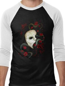 Phantom of the Opera Mask and Roses Men's Baseball ¾ T-Shirt