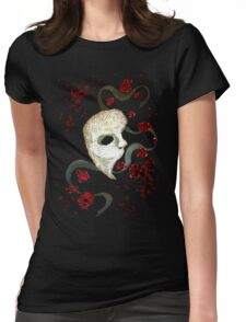 Phantom of the Opera Mask and Roses Womens Fitted T-Shirt
