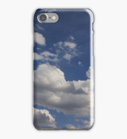 Clouds in blue sky iPhone Case/Skin