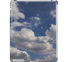 Clouds in blue sky iPad Case/Skin