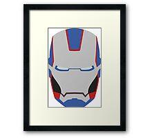 Minimalistic Iron Patriot Framed Print