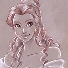 Toned Paper Belle by CherryGarcia