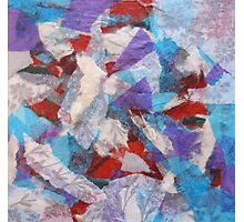 Colorful Abstract Collage with Floral Theme Photographic Print