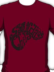 Saturday's Child Logo in black T-Shirt
