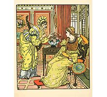 Princess Belle-Etoille 1909 Walter Crane 11 - Fan and Flowers Photographic Print