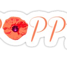Poppy Sticker