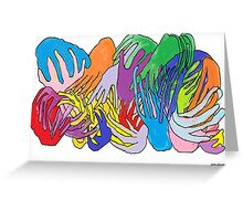Holding Hands Tightly Greeting Card