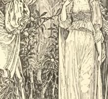 Eight illustrations to Shakespeare's Tempest by Walter Crane 1894 29 - Ferdinand - Most Sure the Goddess on Whom These Airs Attend Sticker
