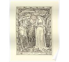 Eight illustrations to Shakespeare's Tempest by Walter Crane 1894 29 - Ferdinand - Most Sure the Goddess on Whom These Airs Attend Poster