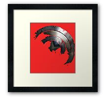 Blown Through Shield  Framed Print