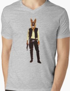 Han Solo Star Wars Dog Mens V-Neck T-Shirt