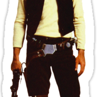 Han Solo Hottest dog in empire Sticker