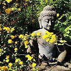 Buddha and Yellow Flowers by HeklaHekla