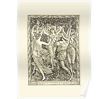 Eight illustrations to Shakespeare's Tempest by Walter Crane 1894 13 - The Dance of the Nymphs and the Reapers Poster