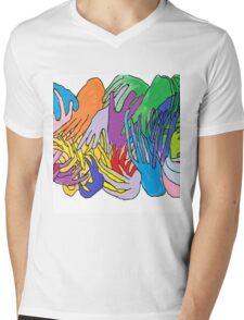 Holding Hands Tightly Mens V-Neck T-Shirt