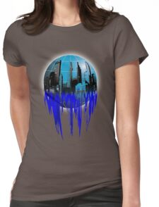 City Globe Womens Fitted T-Shirt