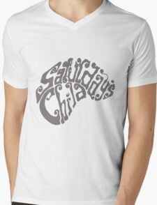Saturday's Child Logo in gray Mens V-Neck T-Shirt