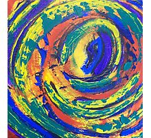 Colorful Abstract Painting - Whirlwind Photographic Print