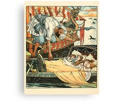 Princess Belle-Etoille 1909 Walter Crane 7 - A Ship Above the Bed Canvas Print