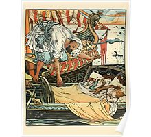 Princess Belle-Etoille 1909 Walter Crane 7 - A Ship Above the Bed Poster