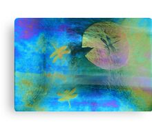 Magical Dragonfly Glass Canvas Print