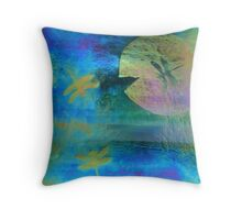 Magical Dragonfly Glass Throw Pillow