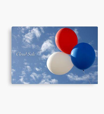 Cloud Sale Canvas Print