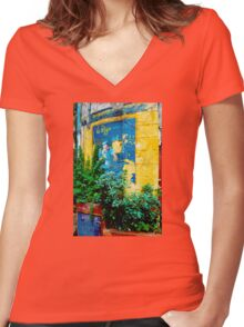 LA PIZZA DEPOSE 1952 (CARD) Women's Fitted V-Neck T-Shirt