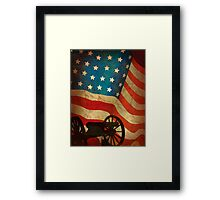 The flag and a cannon  Framed Print