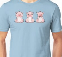 Hear No, See No, Oink No Evil Unisex T-Shirt