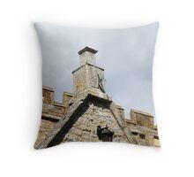 Wall mounted sundial, Grendon Parish Church Throw Pillow