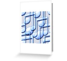 Blue Music Notes Greeting Card