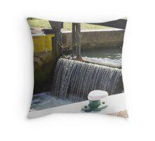 Earls Barton lock, River Nene, Northamptonshire Throw Pillow