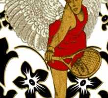 Sport series - Tennis woman  Sticker