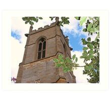 church tower, Grendon Parish Church, Northamptonshire Art Print