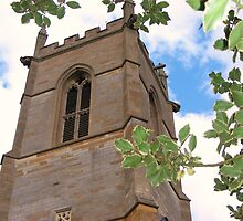 church tower, Grendon Parish Church, Northamptonshire by brittle1906