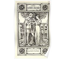 Household Storeis from the Collection of the Brothers Grimm by Lucy Crane with Illustrations by Walter Crane 1882 118 - The White Snake Poster