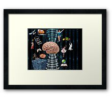 Brain games - War of Thought Framed Print