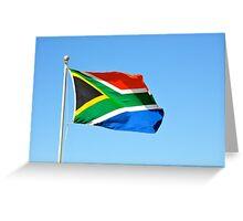 Flying flag Greeting Card