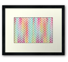 Rainbow Bricks 2 Framed Print