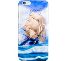 Old Ironsides - The Historic USS Constitution At Sea iPhone Case/Skin