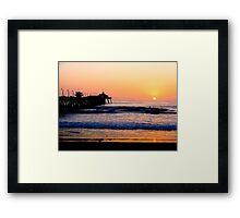 Imperial Beach Sunset Framed Print